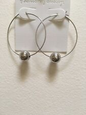 Hoop Rhodium Plated Earrings