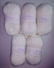 Job Lot James C Brett Baby Shimmer DK Knitting Yarn, 500g - White *FREE POST*