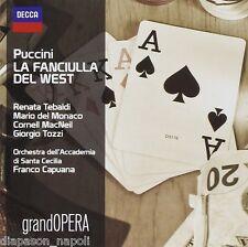 Puccini: La Fanciulla del West / Capuana, Tebaldi, DEl Monaco Tozzi - CD Decca