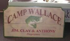 CUSTOM CAMP - FISHING- LODGE- COTTAGE LARGE WOOD SIGN