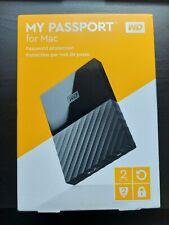 Brand New WD Western Digital My Passport 2TB External Portable Storage For Mac