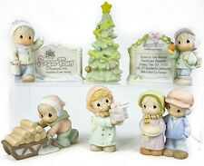 Precious Moments Sugar Town Figure 6pc Lot Tree Sam Bulah Heather Cleo Marquee