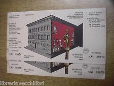 biglietti biennale MOSTRA MERCATO INTERNAZIONALE ANTIQUARIATO Firenze 1969 della