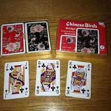 Vintage PIATNIK Bridge Cards CHINESE BIRDS Made in AUSTRIA - Complete