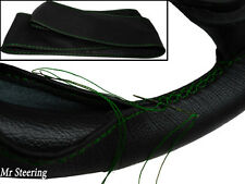Ajustes de Toyota Celica 19701997 Cuero Negro volante cubierta verde Costura