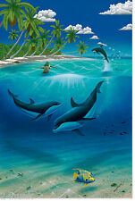 NEW Robert WYLAND  Dreaming of Paradise- Signed and Numbered Ltd Ed Lithograph