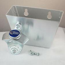 BUDWEISER BUD LIGHT Combo Bottlecap Starr X Wall Mount Bottle Opener Cap Catcher