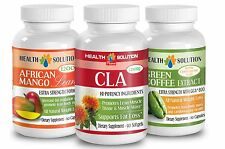 Unique Complex - CLA,Green Coffee Bean Extract GCA, African Mango Lean(1+1+1)