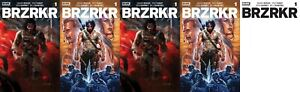 BRZRKR 1 COVER A B C D E SET REGULAR & FOIL KEANU REEVES GRAMPA BROOKS ALL NM+
