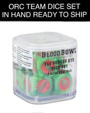 Warhammer Blood Bowl Orc Gouged Eye Team Dice Set