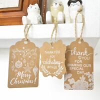 50pcs craft paper hang tags Christmas party favor label price Xmas gift Card New