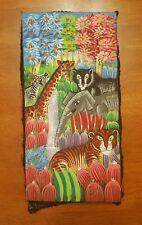 ANIMALS OF THE JUNGLE KINGDOM HAITIAN  ART SIGNED FRANTZ