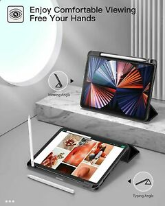 Smart iPad Case Cover Apple iPad Pro 11 2021 with Pencil Holder Lightweight Soft