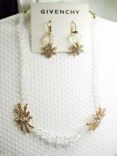 $217 Givenchy Necklace & Earrings Clear Swarovski Elements Mother of the Bride