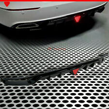 Fit for 18-20 Accord Sport&Touring 4DR Rear Fin Diffuser Gloss Black w/LED Brake