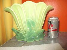 Vintage McCOY Green Flower VASE maybe Lamp too