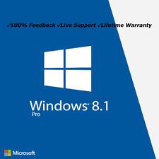 Microsoft Windows 8.1 Pro Professional 32 or 64 Bit Genuine License Key Code