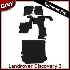 Landrover Discovery 3 Tailored Fitted Car + Boot Mats GREY 2 Clip