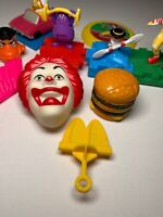 14 Vintage McDonalds Happy Meal Toys From The 1990s. Grimace, Ronald, Birdie