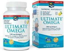 Nordic Naturals Ultimate Omega SoftGels - Concentrated Omega-3 Burpless Fish Oil