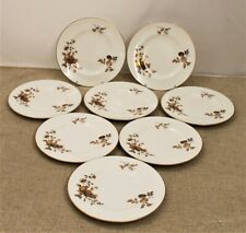 Royal Worcester Eight Side Plates - Autumn Gold Design - Thames Hospice