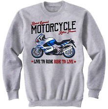BMW K1200RS - COTTON GREY SWEATSHIRT ALL SIZES IN STOCK