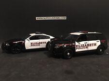 Elizabeth Police NJ 1:24 Scale Police Car 2-pack
