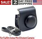 For Fujifilm Instax Mini 9 8 8 Protective Case Adjustable Shoulder Strap Black