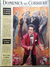 La Domenica del Corriere 30 Gennaio 1966 Roncalli Gardner Di Stefano Sanremo Tv