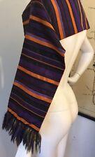 Etro Scarf Shawl 72% Silk 28% Cotton Vibrant Colors Italy Striped RARE!!
