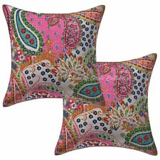 """Decorative Kantha Pillow Case Cover Indian Decorative Cushion Cover Set OF 16"""""""
