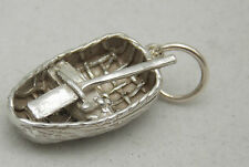 3D STERLING SILVER WELSH CORACLE  CHARM