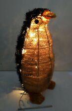"Vintage 24"" Lighted Fuzzy Penguin Figure Christmas/Holidays Outdoor Yard Decor"