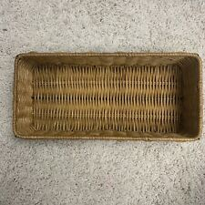 Wicker  Basket Makeup Storage Box Container Case Organizer Desktop