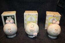 Enesco Precious Moments Porcelain Christmas Ornaments Lot of 3 1995-1997