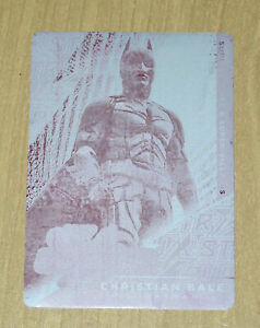 2019 Cryptozoic DC CZX print plate magenta Christian Bale STR PWR 1/1