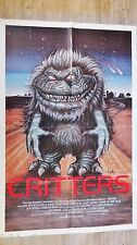 CRITTERS  ! plus mechant que gremlins : affiche cinema rare model u.s