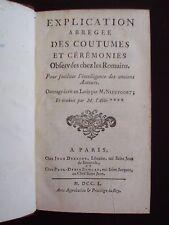Explication abrégée des coutumes et cérémonies observées chez les Romains