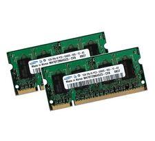 2x 1gb 2gb di RAM memoria Samsung Laptop Advent 6552 6555 9112 ddr2 667 MHz