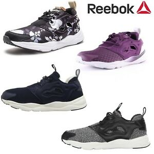 Reebok Women Sneakers Furylight Running Training Shoes NEW Black Purple Blue
