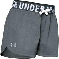 Under Armour Girls' Play Up Solid Workout Gym Shorts, Grey, Size Small l8q2