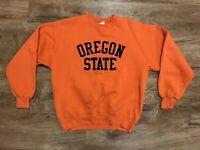 Vintage Oregon State Sweater Orange MJ Soffe Adult Size L