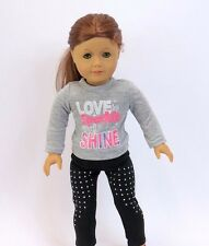 """Love to sparkle and shine outfit 18"""" doll clothing fits American girl"""