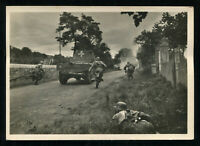 WW2 WWII Germany 3rd Reich Postcard Hitler 'Our Waffen-SS' Soldiers Advance RPPC