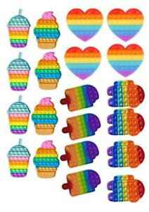 20 POPIT shape PRE CUT edible cupcake toppers Wafer paper or Icing