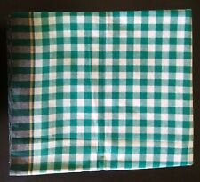 Very Large Green Checked Cotton Indian Bath Beach Travel Towel Gamcha Wrap