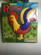 """CREAPLAST """"GALLO"""" (ROOSTER) 12 PIECE PLASTIC PUZZLE, 2 YRS OLD, NEW"""