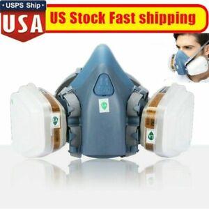 7502 Half Face Gas Mask Respirator Paint, Built in Filters Read Description