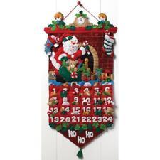 Bucilla Must Be Santa Felt Bejewel Applique Advent Calendar Kit 13x25 86312