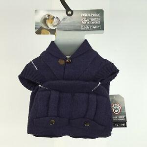 "Canada Pooch Dogs Purple Cargo Knit Sweater Size 16"" (17-25 lbs) MSRP $59.95"